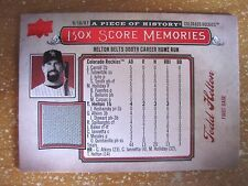 TODD HELTON 2008 UD A PIECE OF HISTORY BOX SCORE MEMORIES RED GAME-USED JERSEY