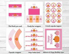 Pink Pumpkin Fall Harvest Printable Birthday Party Package