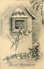AK Weihnachten 1915 Weihnachtsgrüße - Winter Schnee Haus Vögel - Österreich