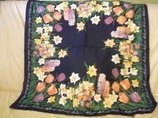 "Ladies Vintage  30"" x 30"" Kemtrade Floral Holland Scarf 100% Polyester"