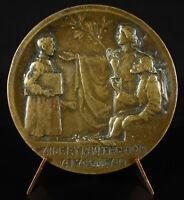 Medal G Perrin 1922 Blind Scale of Justica Crafts Allegory Craftsmanship
