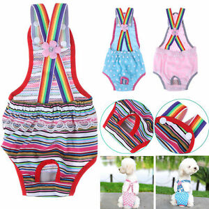 Female Pet Dog Physiological Pants Diaper Puppy Sanitary Panty with Suspender