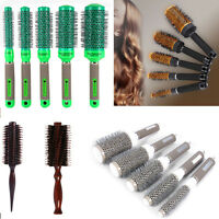Useful Round Barrel Hairdressing Boar Curling Hair Comb Brush Popular MZ