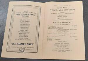 1946 Ida Haendel William Walton Promenade Concert Programme Royal Albert Hall