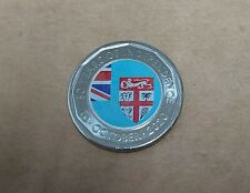 FIJI - 2020 NEW RELEASE 50 YEARS OF INDEPENDENCE COLORED 50c UNC COIN