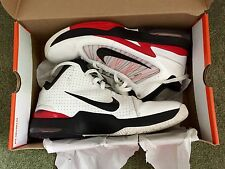 Men's Nike AIR MAX HYPERFLY Basketball Shoes SIZE 12 WHITE ( 407535 100 ) USED