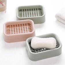 Práctica caja de baño de doble capa baño jabonera caja