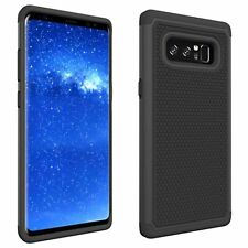 New Black Dual Layer Shock Proof Rugged Cover Case For Samsung Galaxy Note 8