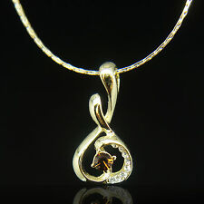 14k Gold plated melody pendant necklace with Swarovski elements