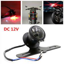 Motorcycle Aluminum Alloy Tail Brake Light Lamp Metal LED with License Bracket
