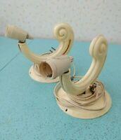 Lot Of 2 Vintage  Bakelite Electric Light Fixtures Sconces for Restoration