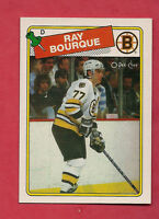 1988-89 OPC # 73 BOSTON BRUINS RAY BOURQUE NRMT-MT CARD