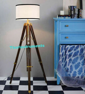 Hollywood Vintage Wooden Lamp Nautical Tripod Lamp Stand Home Decor Gift