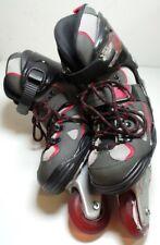Forward Warp Rollerblades Inline Skates Black/RedGrey Youth Size 5 Roller Blades