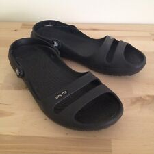 Crocs Womens Navy Blue Rubber Sling Back Slip On Mary Jane Shoes Size 9