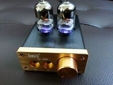 Mini 6J9 Valve Tube Headphone Amplifier Audio High-current HiFi Stereo Amp_Black