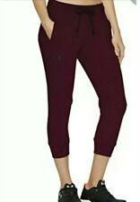 Ladies Under Armour Leggings Fleece Capri  3/4 Length Jogging pants burgundy (M)