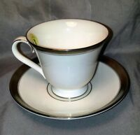 Waterford Newgrange Harcourt Platinum Teacup and Saucer Fine English China