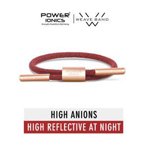 Power Ionics Weave Ion Bracelet Waterproof Band Mens Sports Fashion Single 1Rope