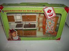 Vintage Vero Wooden Kitchen Doll House Furniture, Erzgebirge Mountain, Germany