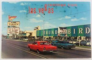 Vintage Las Vegas Nevada NV Greeting from Las Vegas Thunderbird Hotel 1974