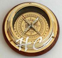 "Maritime Antique Brass Sailing Ship Boat Desk Navigational Nautical Compass 6"""