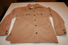 Vtg Heavy Levis Denim Work Shirt M Coat Jacket Sawtooth 2 digit button White Tag