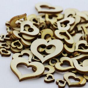 Heart Shaped Wooden Crafting Scrapbook Vintage Wedding Decor R