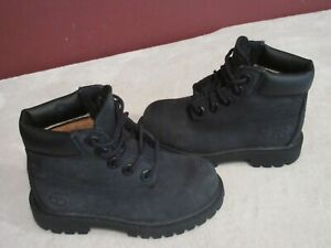 Timberland Black Leather Boots Toddler Size 7.0