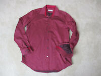 Robert Graham Flip Cuff Button Up Shirt Size Adult Large Red Black Casual Mens