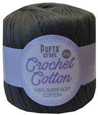 100 Super Soft Crochet Cotton 50g 3ply 145m Pewter