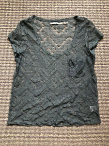 Anthropologie Lace Blue Top