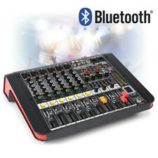 More details for pdm 6 channel flatbed powered mixer amplifier with bluetooth for bands pa church
