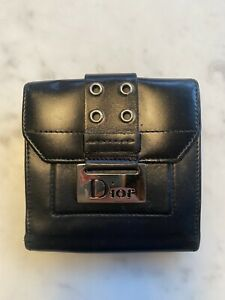 Dior Vintage Black Leather Wallet 100% Authentic