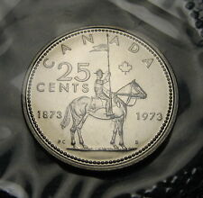 """RCM - 1973 - 25-cents - R.C.M.P. - PL Uncirculated - """"SB"""" - Sealed in cellophane"""