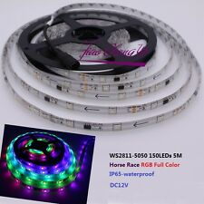 5M WS2811 5050 Horse Race RGB Full color 150LEDs Flexible strip 12v waterproof