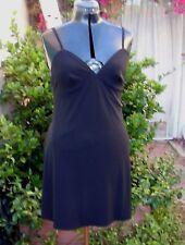 Norma Kamali OMO 10 slip dress VTG Classic slinky jersey wear alone or under