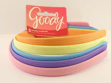 GOODY GIRLS CHERRY FABRIC HEAD BANDS - 5 PCS. - PASTEL COLORS (32113-A)
