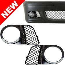 98-03 BMW E39 M5 Fog Light Mesh Covers Replacement - Gloss Black ABS Right+Left