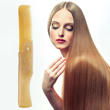 Women Ox Horn Fine Tooth Pocket Folding Comb All Hair Types Beard Mustache SL