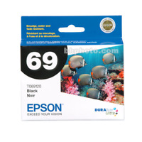 Epson 69  T069120 DURABrite Ultra Black Standard Capacity Ink Cartridge