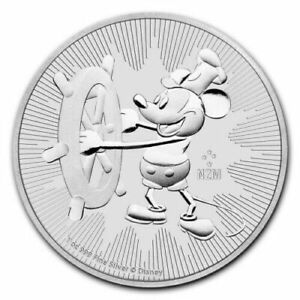 2017 Niue Mickey Mouse Steamboat Willie 1 oz Silver $2 Coin