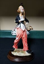 "Vintage Signed Pucci Hobo Clown Playing Saxophone Figurine 12"" tall"