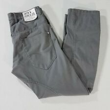 Jack & Jones Dale Twisted Leg Button Fly Chinos Workwear Pant Mens 32x29.25 Gray