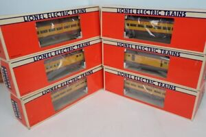Set Of 6 Lionel O Aluminum Union Pacific Smooth Side Passenger Cars In The Boxes