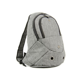 Evelyne Gray Small Pet Dog Cat Puppy Carrier Backpack with Zipper Front Opening