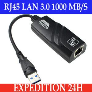 USB 3.0 to Ethernet RJ45 LAN Network Adapter 100/1000 Gigabit Carte réseau PC