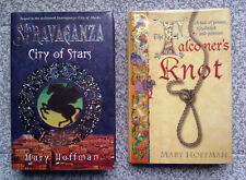 MARY HOFFMAN Stravaganza & Falconers Knot, 1st/1st, HBK, DJ, *BOTH SIGNED*