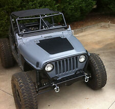 Jeep Blackout Hood Decal Textured Black Out w/ install kit Fit Wrangler TJ 97-06