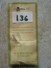 NOS Weaver 136 Enfield Remington Weatherby BSA Rifle Pivot Mount Rear Scope Base